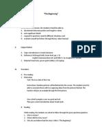 Semi-Detailed Lesson Plan of Greek Mythology ( the Beginning)