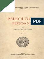 Mărgineanu Nicolae, Psihologia Persoanei