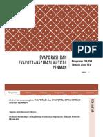Perhitungan metode PENMAN