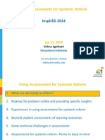 InspirED 2014- Using Assessments for Systemic Reform- Ver 1.1