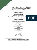 Hrm practice in BEXIMCO-Pharmacuticals Ltd.
