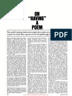 Skinner - On Having a Poem