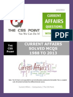 Solved Current Affairs MCQS From 1988 to 2013