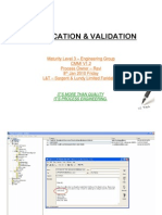 Verification and Validation CMMI