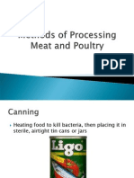 Methods of Processing Meat and Poultry