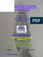 Fingerprint Recognition(Main Submission)