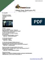Guia Trucoteca Metal Gear Solid Pc