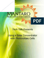 Using a Solar Concentrator With Photovoltaic Cells