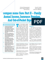 Complex Home Care Part II Family Annual Income, Insurance Premium, And Out-Of-Pocket Expenses