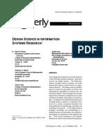 Msc Desigh Science