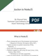 NodeJS Presentation