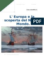 L'Europa e la scoperta del Nuovo Mondo.