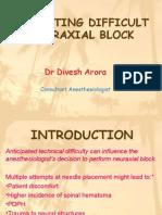 Predicting Difficult Neuraxial Blockade