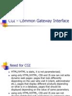 CGI - Common Gateway Interface