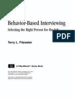 Behavior Based Interviewing