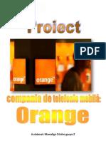 Proiect Orange.mamaliga Cristina,Grupa 2