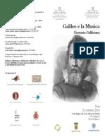 Galileo e La Musica - Invito e Programma