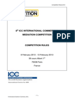 ICC International Mediation Competition Rules