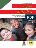 Politica de Participacion Social y Servicio Al Ciudadano