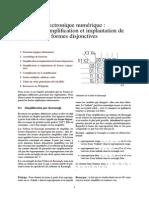 Électronique Numérique - Logique_Simplification Et Implantation de Formes Disjonctives