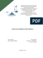 Análisis de Las Demandas a Venezuela - Oct. 2014