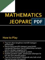 Mathematics Jeopardy!