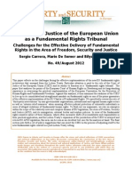 Carrera Et Al ECJ as Fundamental Rights Tribunal