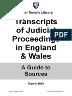 Judicial Proceedings Wales
