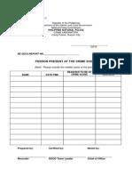 CSI Form 4 SOCO Report Forms