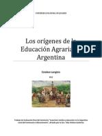 Los Orígenes de La Educación Agraria en Argentina