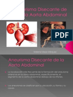 Aneurisma Disecante de La Aorta Abdominal