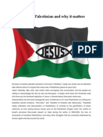 Jesus Was Palestinian and Why It Matters