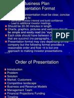 Business Plan Presentation Format
