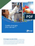 IFPEN Quelles Energies Pour Demain Octobre2011