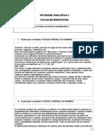 Folha de Respostas - Metodologia e Pratica Do Ensino Da Matematica