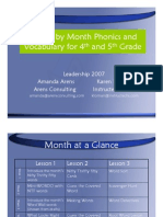 chapter 4- 4th and 5th grade phonics