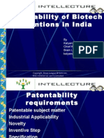 Lecture-3/ Presentation on Patentability of Biotech Inventions in India