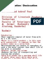 Dehydration of Milk