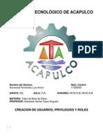 CREACION DE USUARIOS, PRIVILEGIOS Y ROLES.docx