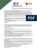 Guía y Plan de Emergencias Uso de Gas Amoniaco Planta de Hielo