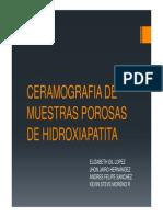 Ceramografia de Muestras Porosas de Hidroxiapatita