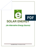 Solar Energy an Alternative Energy Source