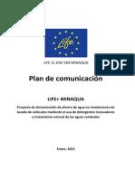 Plan Comunicacion LIFE MinAqua ES1