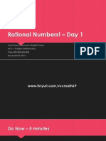 Lesson #29 - Rational Numbers – Day 1