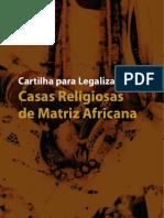 CARTILHA Legalização Casas d Terreiro