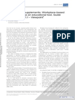AMEE Guide Supplements- Workplace-based Assessment as an Educational Tool. Guide Supplement 31.1–Viewpoint1