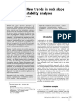 New trands in Rock Slope Stability Analyses