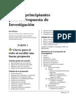 Guía Para Principiantes Para La Propuesta de Investigación