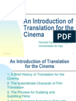 An Introduction of Translation for the Cinema-2011