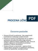 Procena Licnosti - Vezbe 2013